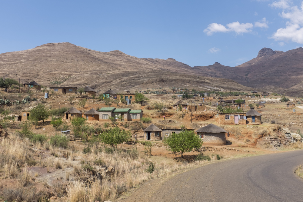 The road from Quacha's Nek to Mohale's Hoek