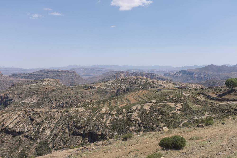 The rolling hills of Lesotho