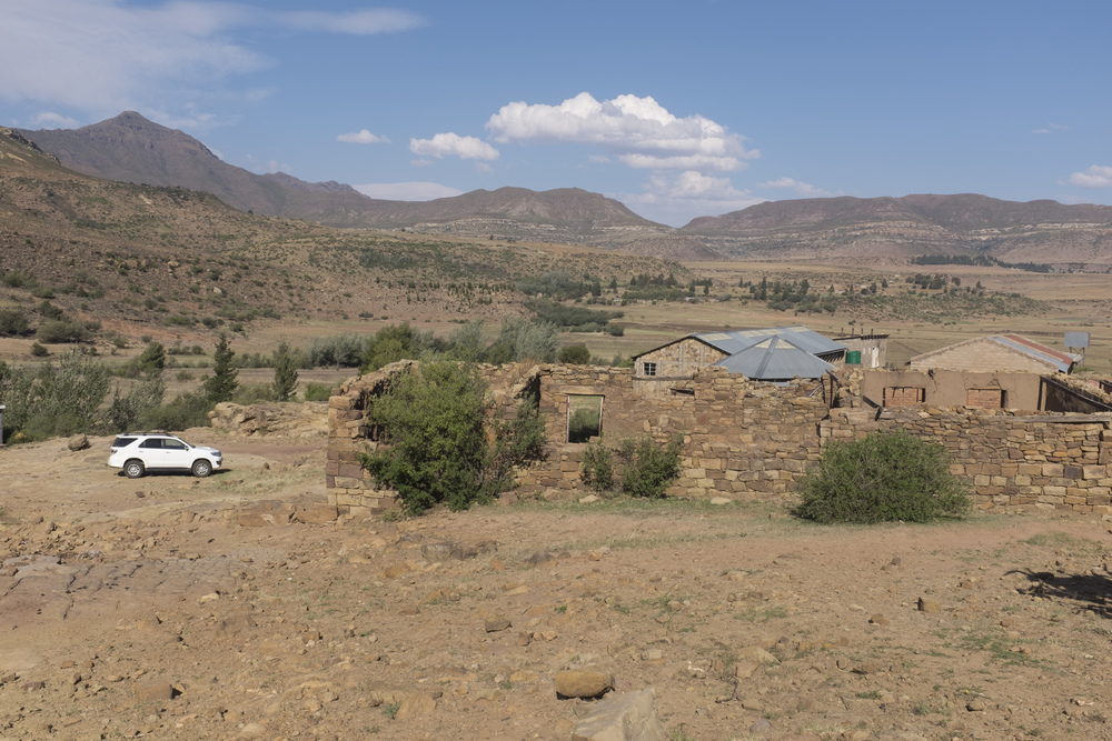 The school in the village where we had to park and make the rest of the journey by foot.
