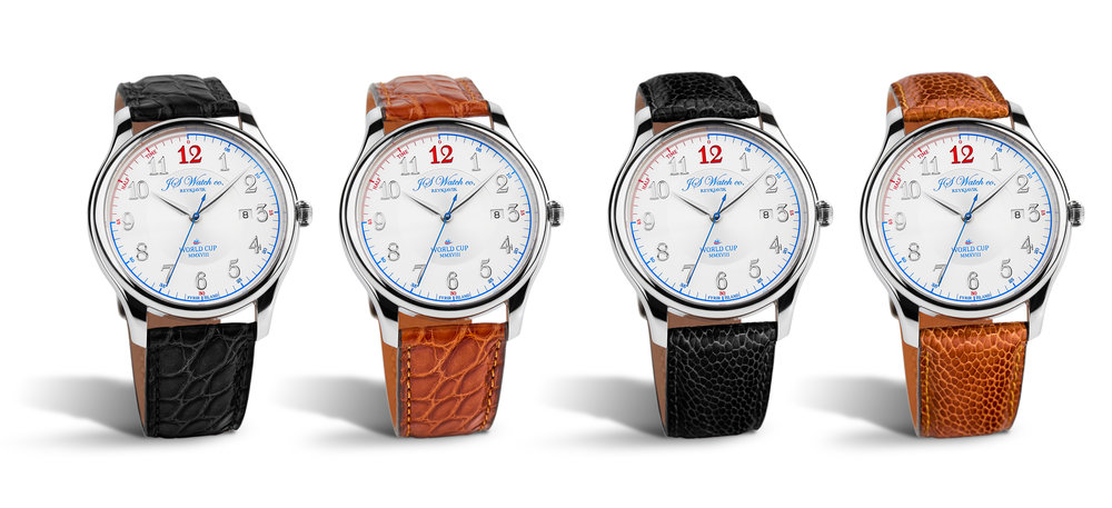 World Cup MMXVIII black and brown strap