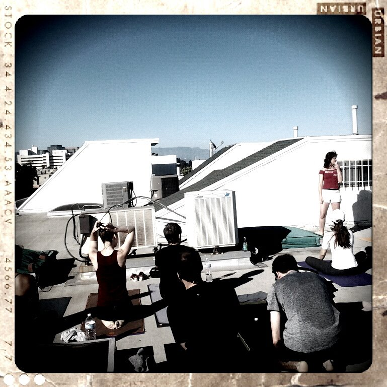 ROOFTOP YOGA, BRENTWOOD 2012