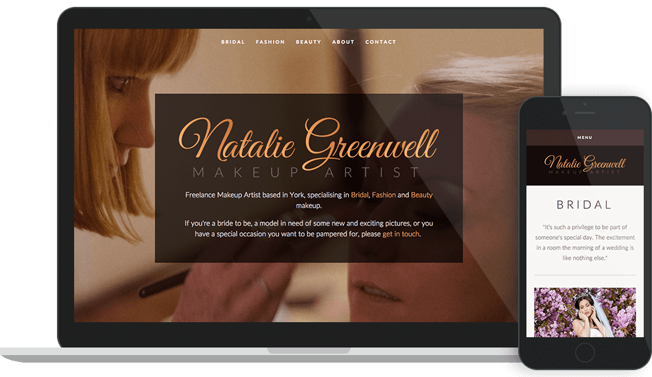 Natalie Greenwell - Branding, website and exhibition graphics