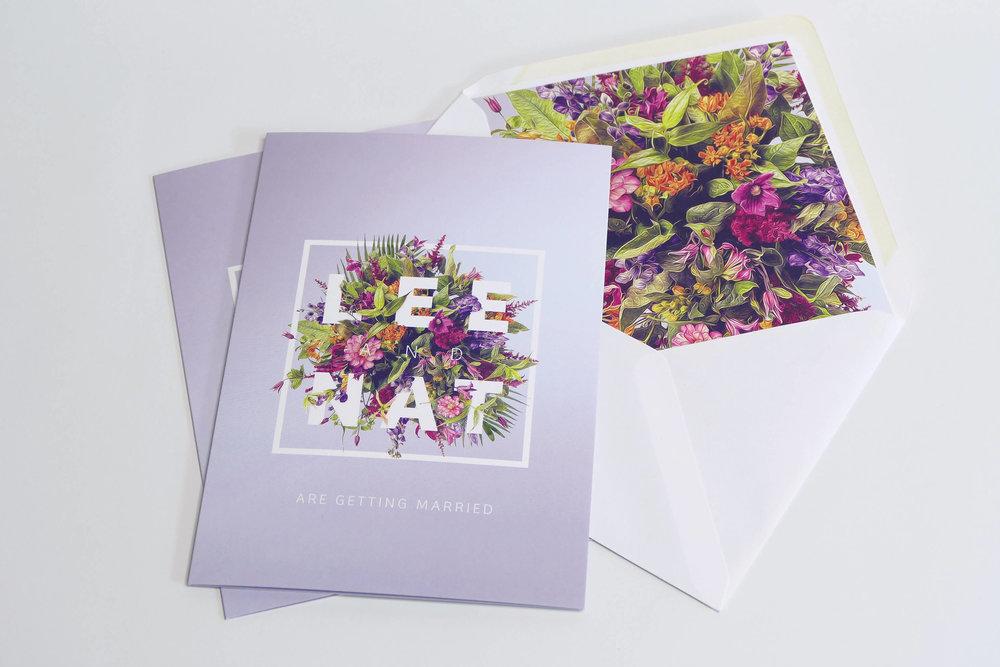 N+L Invites and Envelope Liner