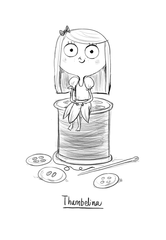 Thumbelina sketch by Chris Chatterton
