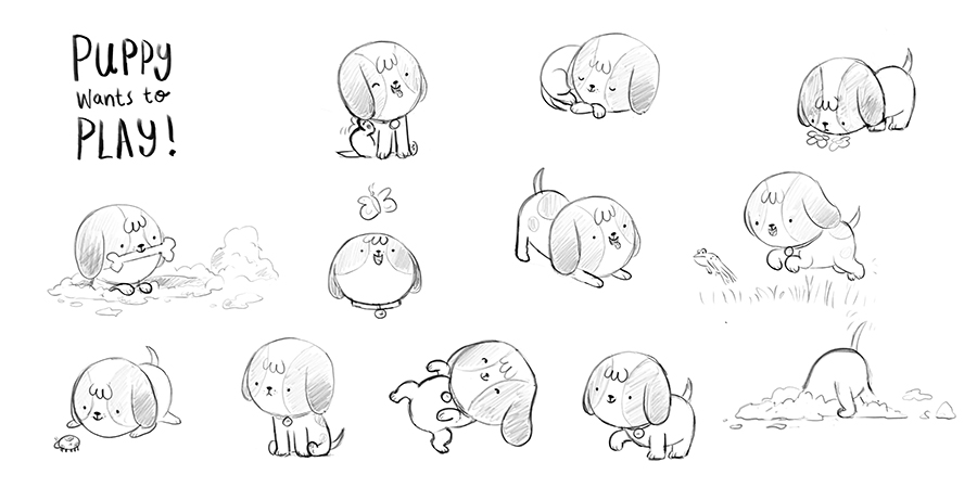 Puppy sketch by Chris Chatterton