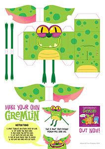 Supermarket Gremlins Paper Toy