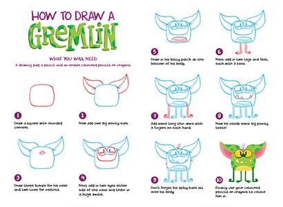 Supermarket Gremlins - How to draw a gremlin