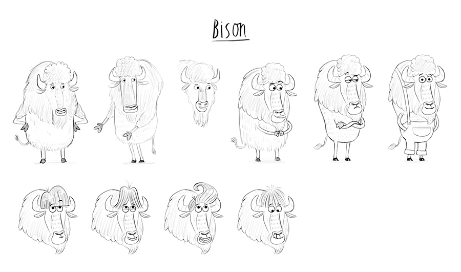 Bison Sketches