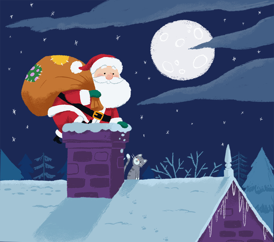 When Santa Came to Stay illustrated by Chris Chatterton