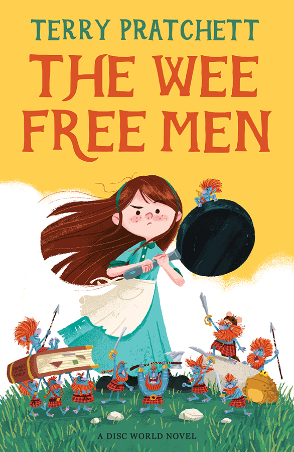 The Wee Free Men book cover illustration. Not affiliated, or endorsed or otherwise associated with Dunmanifestin Limited, Narrativia Limited or the Estate of Sir Terry Pratchett.
