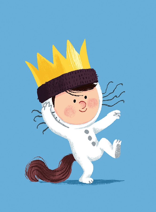 Max from 'Where The Wild Things Are' illustration by Chris Chatterton