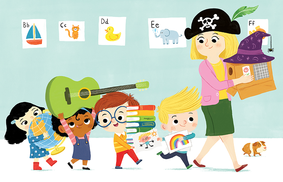 Kindergarten is Cool! illustrated byChris Chatterton