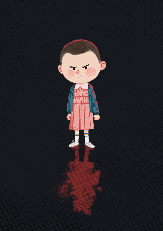 Stranger Things - Eleven illustration by Chris Chatterton