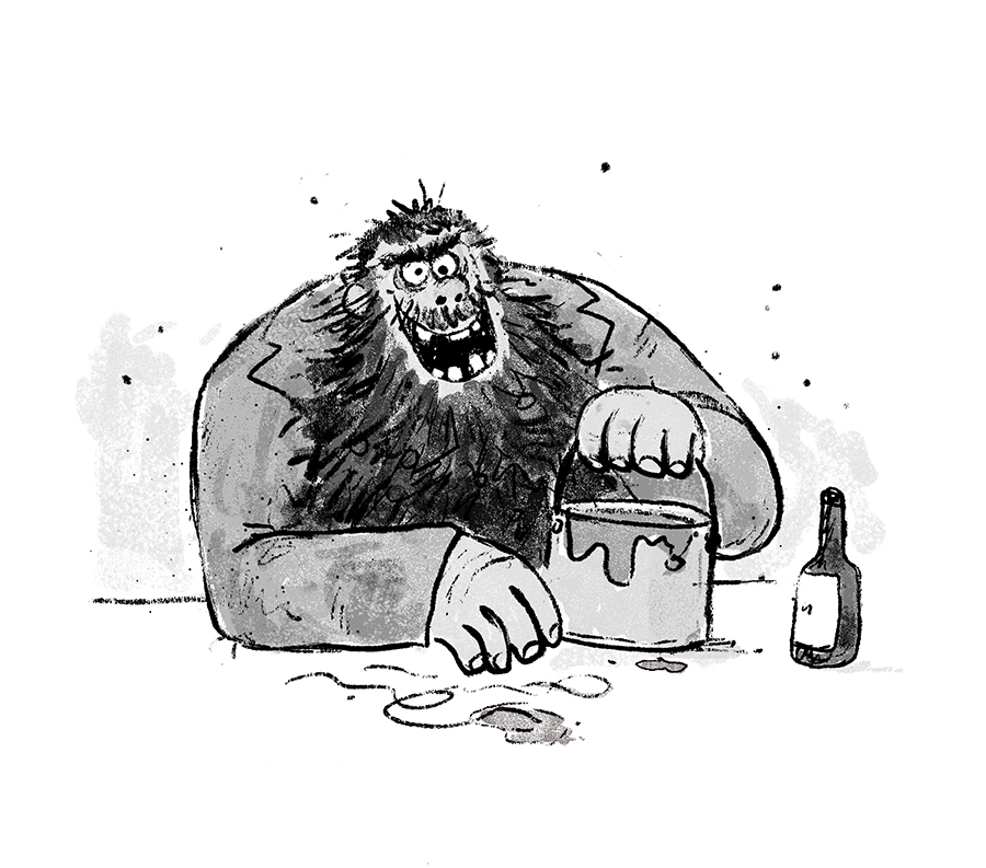 Mr Twit illustration by Chris Chatterton