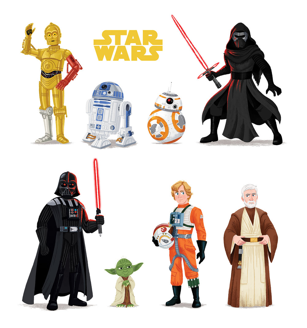 Star Wars Line Up, illustration by Chris Chatterton