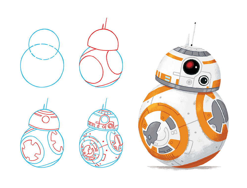 How to draw BB8 from Star Wars by Chris Chatterton