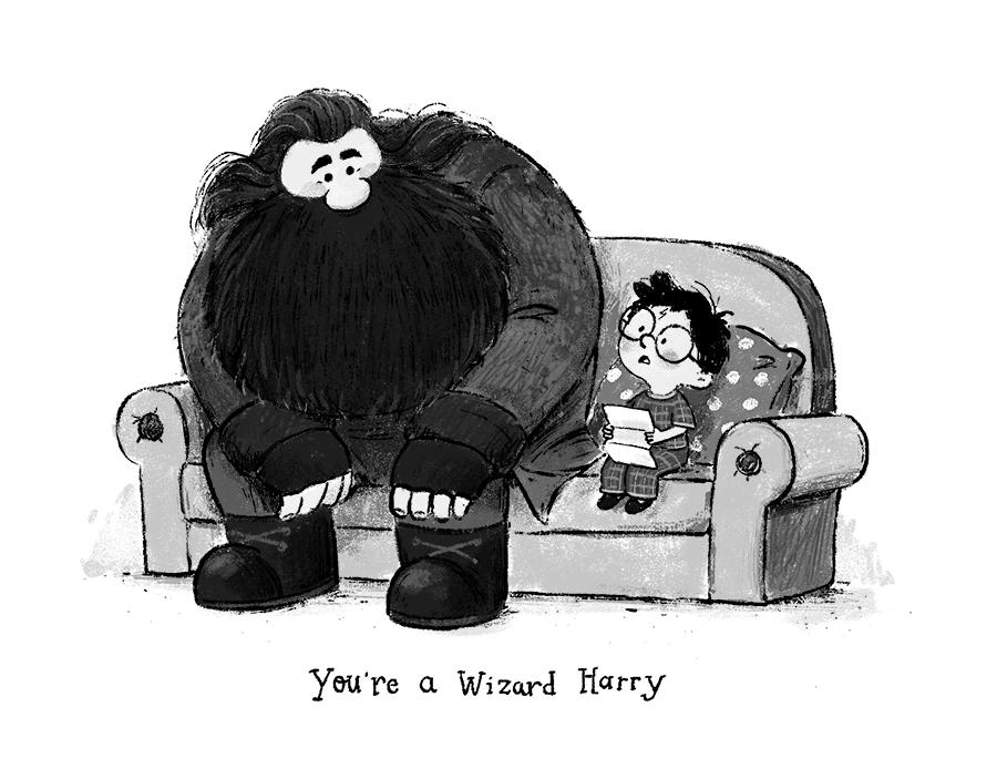 Harry Potter illustration by Chris Chatterton