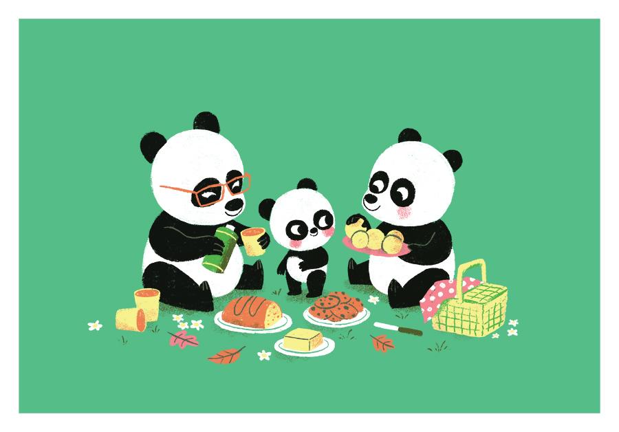 Panda Picnic illustration by Chris Chatterton