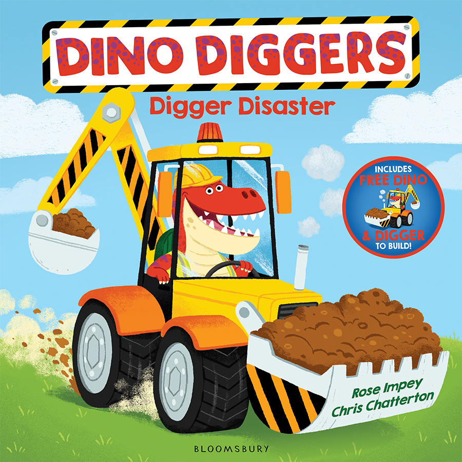 DINO DIGGERS - DIGGER DISASTER cover illustrated by Chris Chatterton
