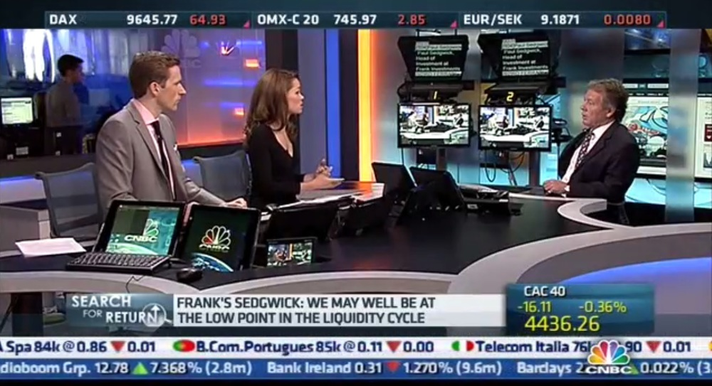 CNBC Team speaking with Paul Sedgwick