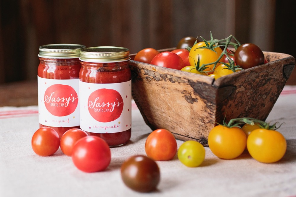 The Artful Union created a mouth watering brand for Baltimore's own Sassy's Tomato Jam, a unique tomato based condiment.