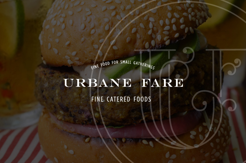 The Artful Union worked with Delaware caterer Urban Fare to create a vintage bistro inspired brand that allowed for personalization of each of the deliverables.
