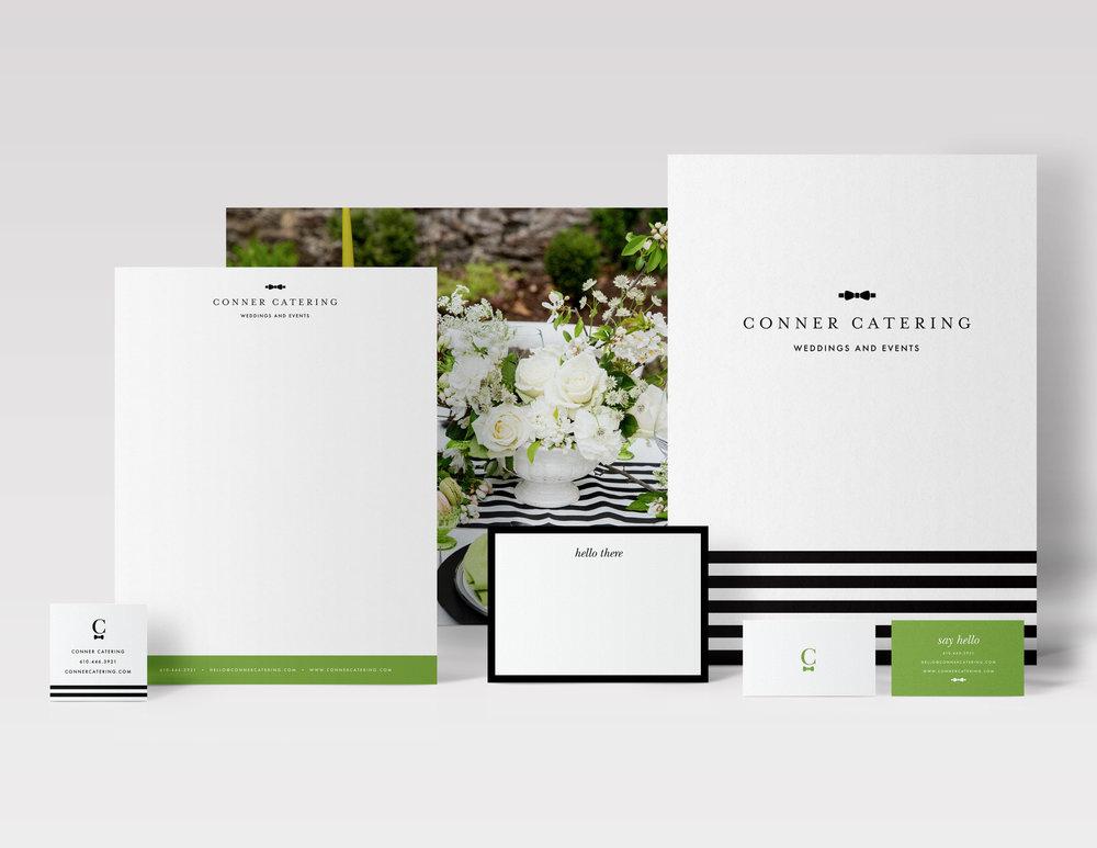 Conner Catering Stationery Branding Design