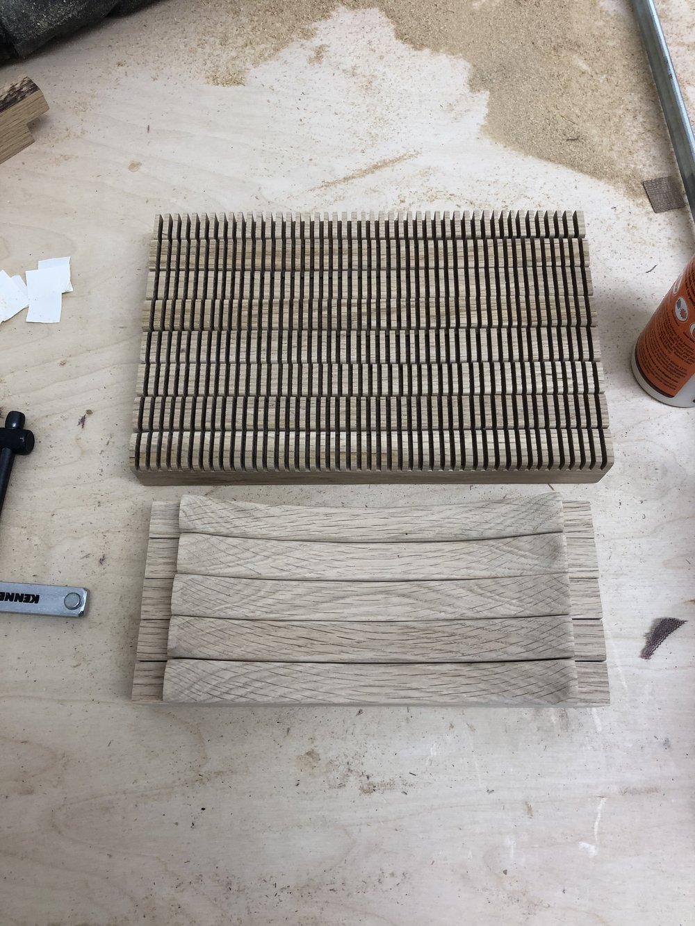Loom   Made with only hand tools in Oak using Half Lap Dowel Joints.