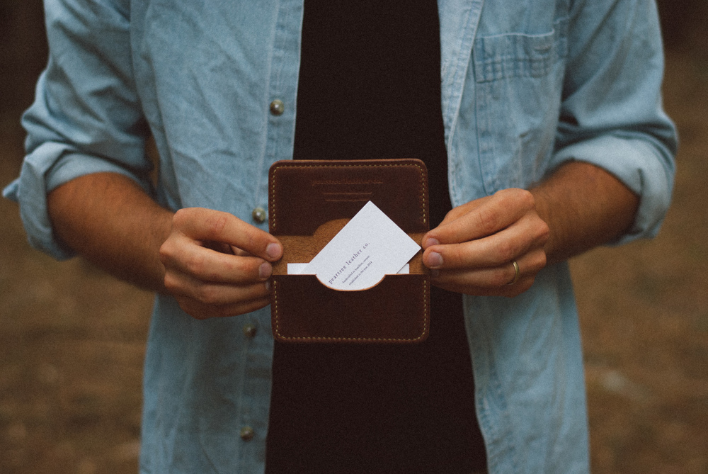Peartree Leather Co. Handmade Leather Slim Wallet