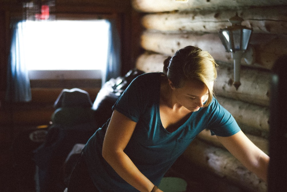 Tracy in Cabin