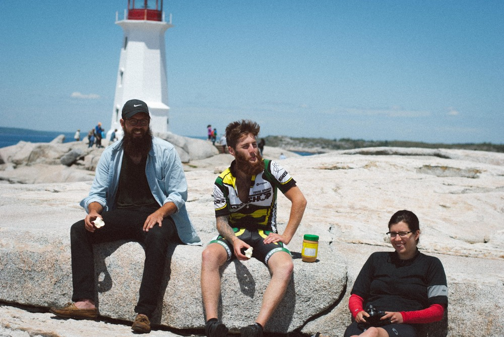 Friends at Peggy's Cove