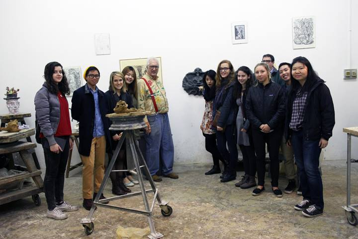 EHP-Spring 2014: A Visit to Peter Rockwell's Studio. We are happy to pose with this great artist—and great guy!