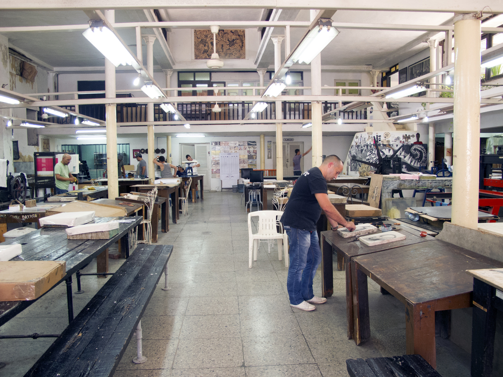 Photo credit: Winifred Lambrecht,Taller Experimental de Gráfica, Havana, Cuba