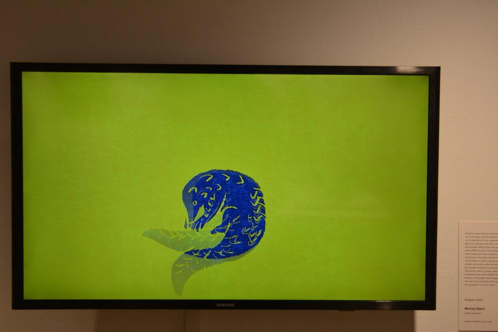 South Africa - artwork -Angela Hseigh Moving Object (Pangolin).JPG