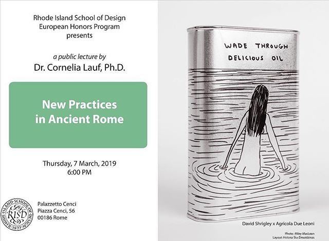 #repost @risdehp In Rome? Please join us this Thursday eve for a public lecture with curator @cornelialauf ❕❕Ci vediamo giovedì 🎨 #risdinrome #risdehp #europeanhonorsprogram