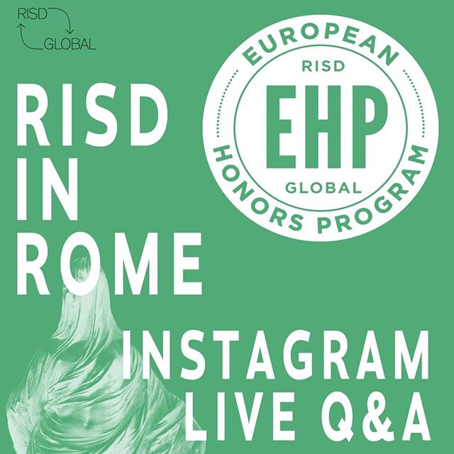 Don't forget to tune in to the @risdglobal stories TODAY at 12 (noon) PVD Time for Live Q+A with the @risdehp Spring cohort! #risdehp⁣ .⁣ @risdpaint @printmakingrisd @risdsculpturestudents @risd_gd @risdid @risdarch @risdintar @risdillustration @risdphto @risdglass
