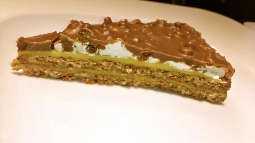 Mandľovo čokoládová tortička