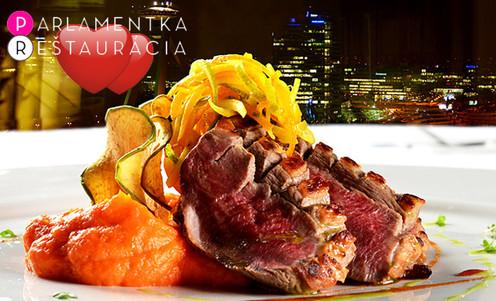 Bratislava Reštaurácia Parlamentka Valentínske Menu