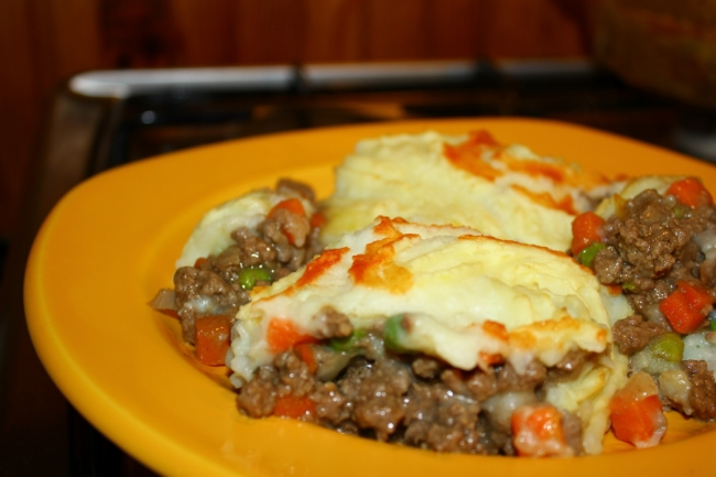 Pastiersky Koláč - Shepherd's Pie na tanieri