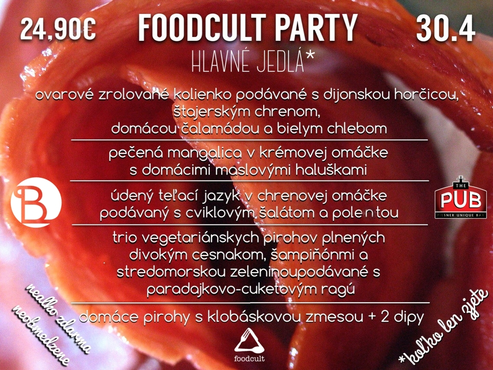 foodcult party hlavne jedla