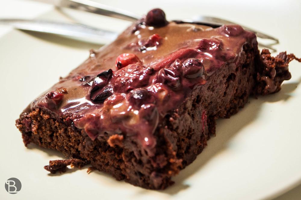 Čokoládovo - cviklový brownie. Moist.