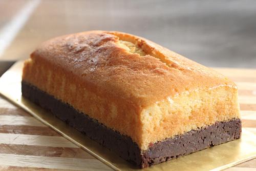Maslový brownie koláč
