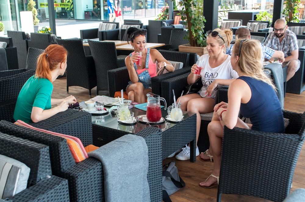 Zľava doprava: Simi, Andrea, Berry a Danka