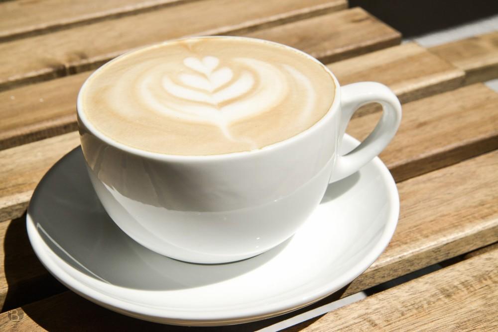 Latte z Kaffehaus Goriffee