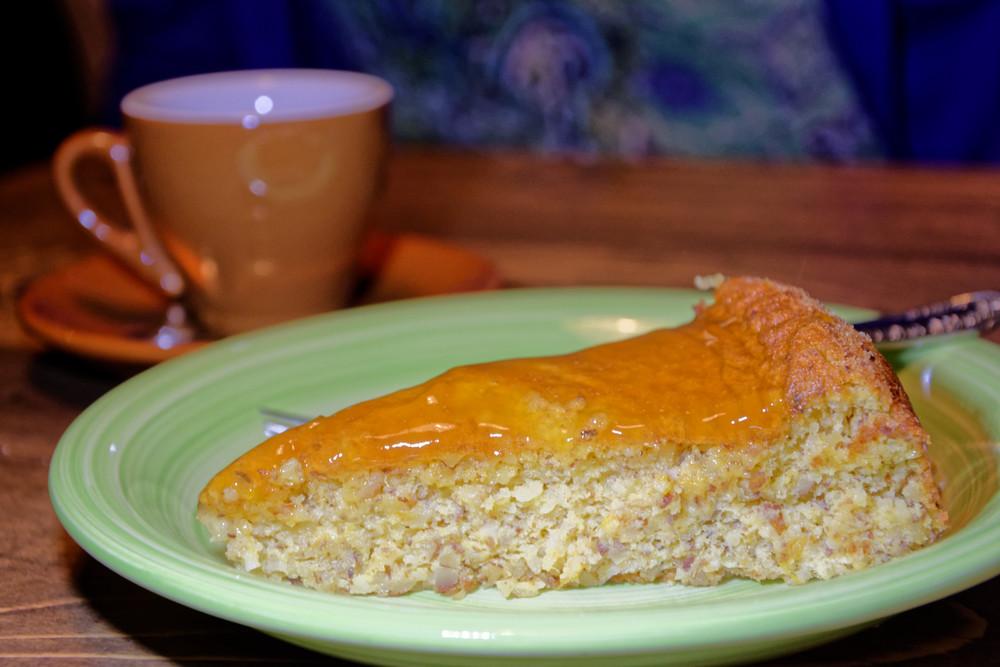 Pomarančovo - mandľový koláčik!