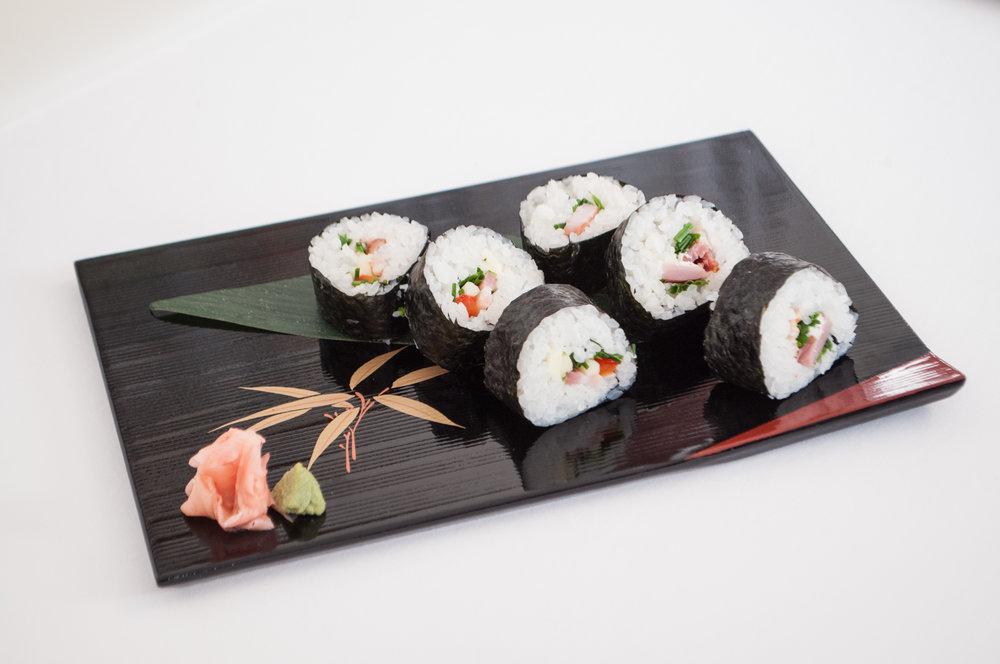 Hotovo! Výrobok sushi majstra
