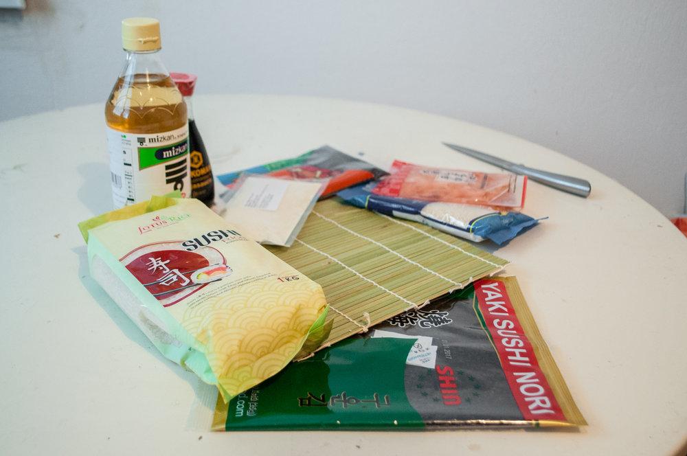 sushi balíček všetko potrebné sushi doma recept