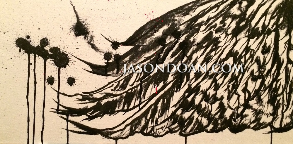 "24"" x 12"" Acrylic Ink on Canvas"