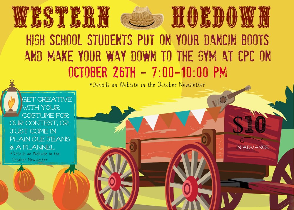 If you have any questions, please don't hesitate to talk to me and I'll be glad to help. Looking forward to seeing you at the Hoe Down!  Missy Lowery    Teen Coordinator   (205) 910-0893