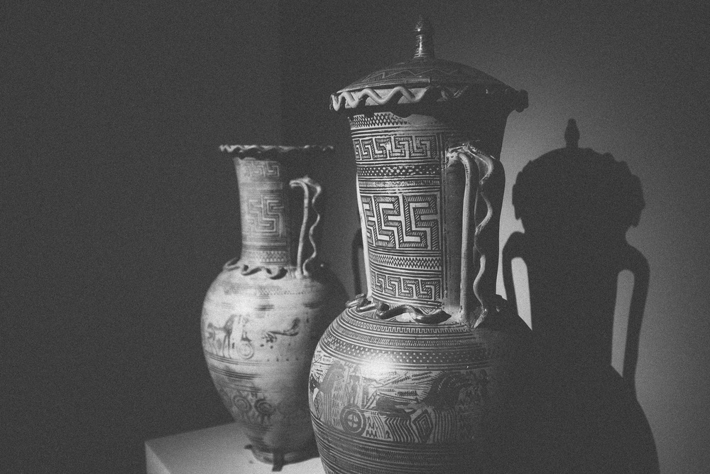 Photo 51. Ancient Greek pottery from the geometric period.  National Archaeological Museum, Greece, 2014.